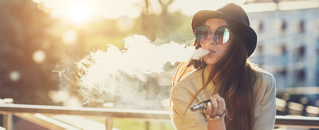Woman with a Vaporizer
